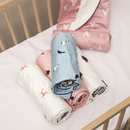 """Little Fennec Multipurpose Cotton Terrycloth Cuddle Blanket for Babies and Toddlers,  41"""" x 41"""""""
