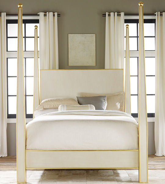 Modern History Abstract Bed-Gold Leaf Trim