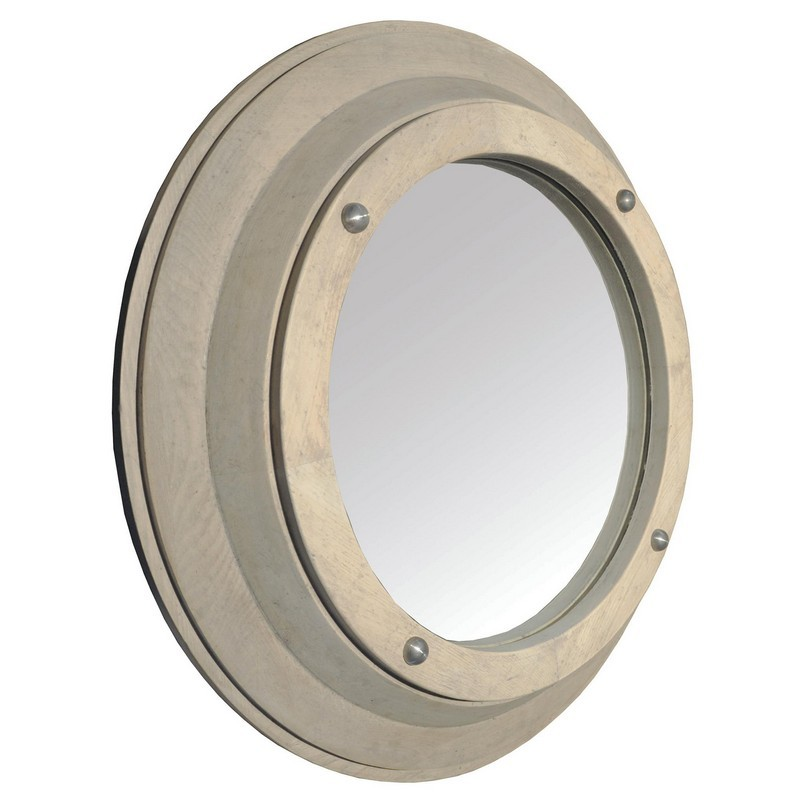 Noir Porthole Mirror