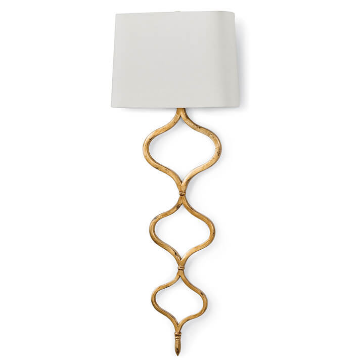 Regina Andrew Sinuous Sconce - Gold Leaf