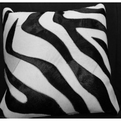 Black/Cream Hide Pillow