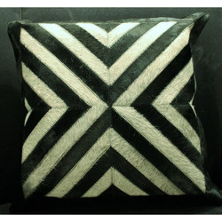 Black/Grey Cow Hide Pillow
