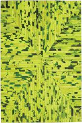 Green Cow Hide Rug