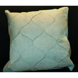 Cream/Off White Cow Hide Pattern Pillow