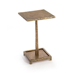 Textured Antique Brass Martini Table