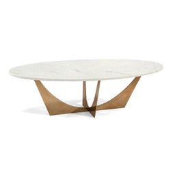 Marble and Brass Cocktail Table