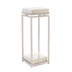 Elegant Stainless Steel and Marble Pedestal