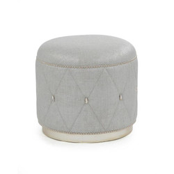 Diamond Ottoman - Grey