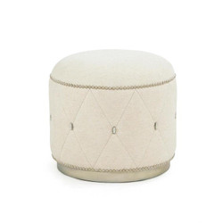 Diamond Ottoman - Ivory