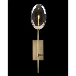 Echo: Glass Globe Single-Light Wall Sconce