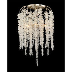 Cascading Crystal Six-Light Semiflush