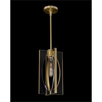 Genesis: Acrylic and Antique Brass Single Droplight