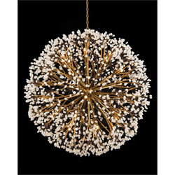 Spherical Thirty-Light Quartz Chandelier