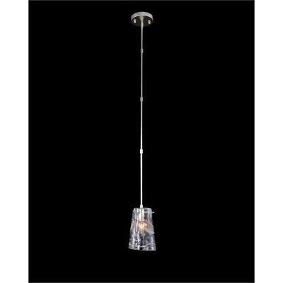 Dulcet: Single Droplight with Glass Formed Shade