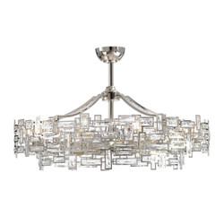 Ten-Light Fandelier - Crystal Geometric