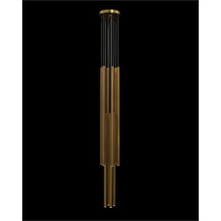 Hans Eleven-Droplight Brass Chandelier