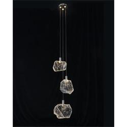 Moonlight Sonata: Selenite Pane Six-Light Droplight Chandelier