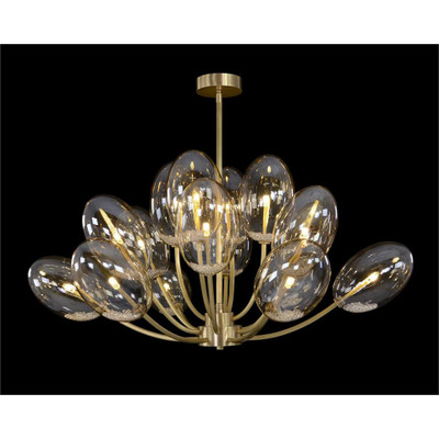 Echo: Glass Globe Sixteen-Light Chandelier