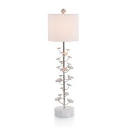 Nickel-Plated Buffet Lamp