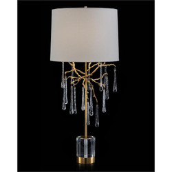 Branched Crystal Table Lamp - Tall