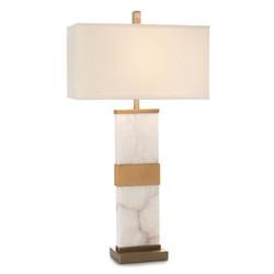 Alabaster Column Table Lamp - Wide