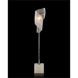 Furls of White Buffet Lamp - No Shade