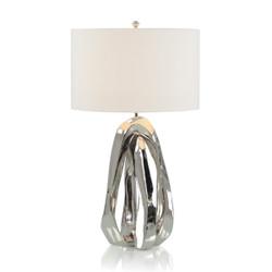 Amorphic Nickel Table Lamp