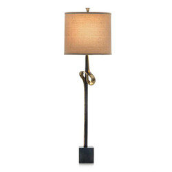 Brass Ribbon Buffet Lamp