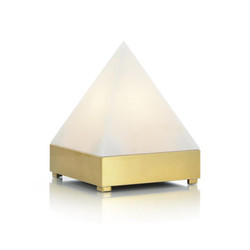 Pyramid in Alabaster and Brass Light