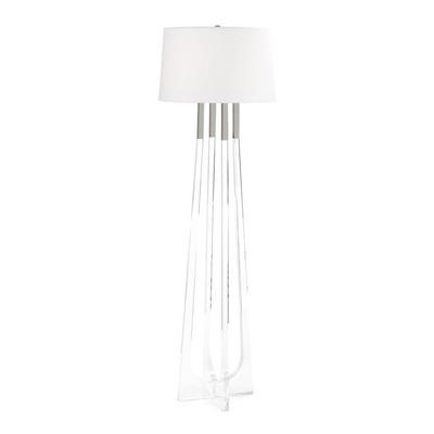 Acrylic Floor Lamp with Polished Nickel