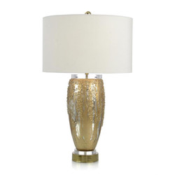 Silver and Gold Glass Table Lamp