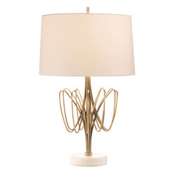 Twisted Brass Bloom Table Lamp