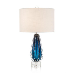 Amalfi Blue and Clear Glass Table Lamp