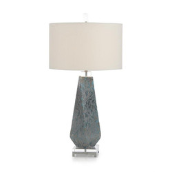 Shades of Blue Table Lamp with a Twist