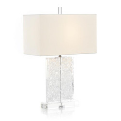 Glass and Acrylic Formed Table Lamp