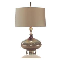 Rainwater on Glass Lamp