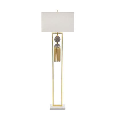 Braided Tassel Floor Lamp