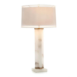 Alabaster Cross Table Lamp