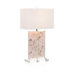 Suspended Calcite Table Lamp
