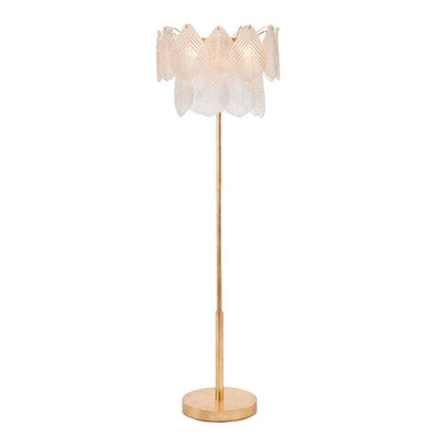 Frosted Glass Petal Floor Lamp