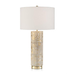 Hair on Hide Table Lamp - Cylinder