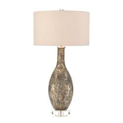 Mosaic Glass Table Lamp - Bulb Shape