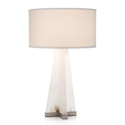 Sculptural Alabaster Table Lamp