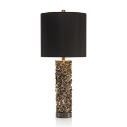 Distressed Blooms Table Lamp