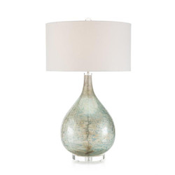 Deep Ocean Blue Table Lamp