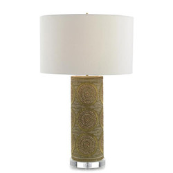 Brass Bead Table Lamp