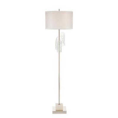 Furls of White Floor Lamp