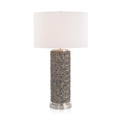 Hand-Beaded Table Lamp