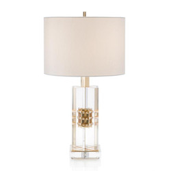 Brass and Acrylic Table Lamp - 23.5""