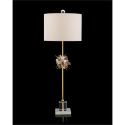 Organic Stones in Gold and White Buffet Lamp